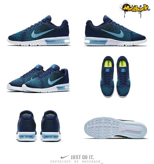 『Mossback』NIKE AIR MAX SEQUENT 2 氣墊 慢跑鞋 深藍(男)NO:852461-405 2