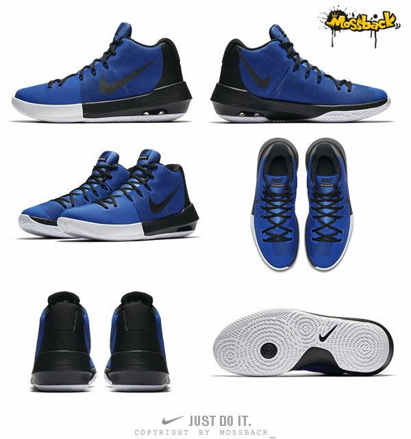 『Mossback』NIKE AIR INTERGRATE 籃球鞋 耐磨 高筒 藍黑(男)NO:898453-400 2