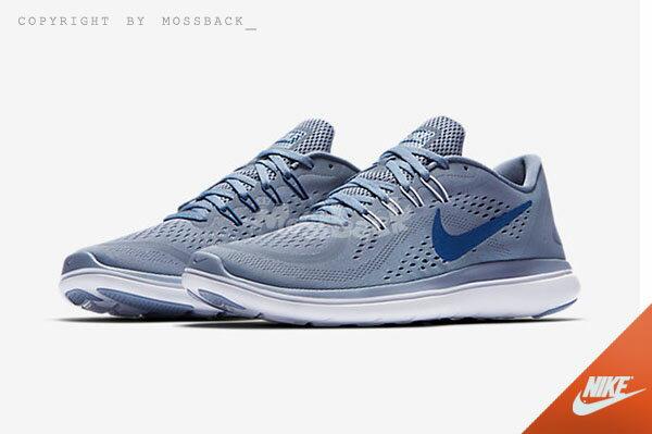 『Mossback』NIKE FLEX RN 2017 SKY BLUE 慢跑鞋 灰藍(男)NO:898457-401