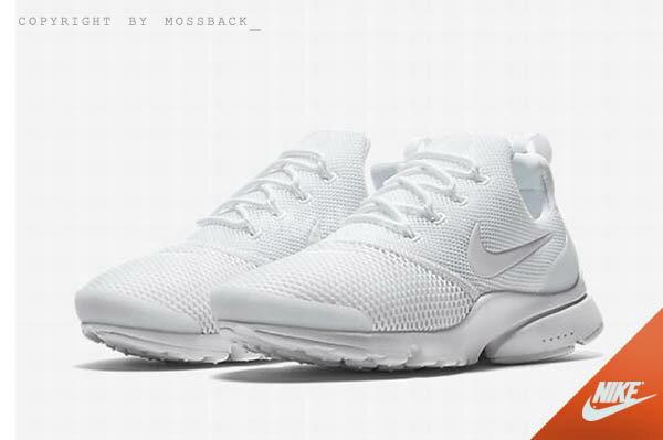『Mossback』NIKE W AIR PRESTO FLY 運動鞋 全白(女)NO:910569-101 0