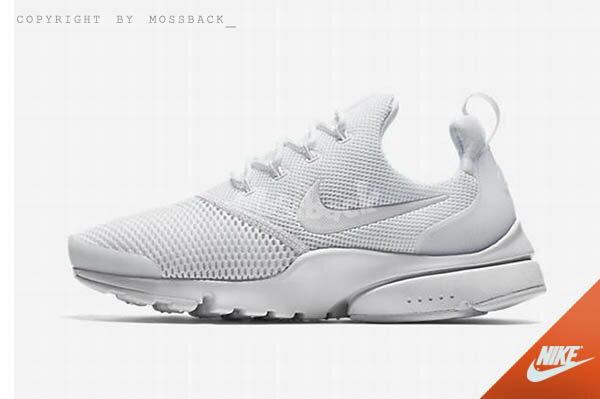 『Mossback』NIKE W AIR PRESTO FLY 運動鞋 全白(女)NO:910569-101 1