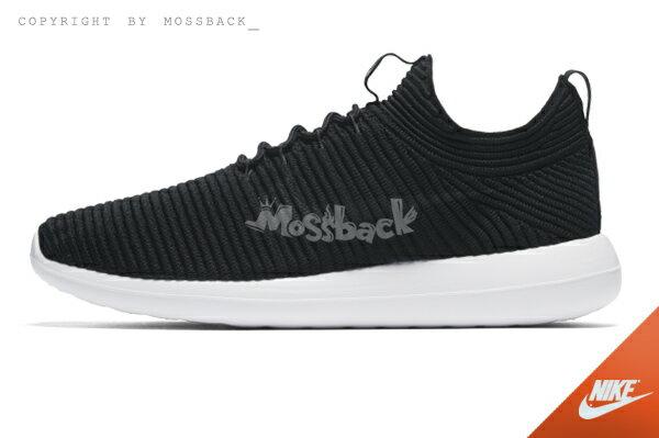 『Mossback』NIKE W ROSHE TWO FLYKNIT V2 編織 慢跑 黑白(女)NO:917688-001 1