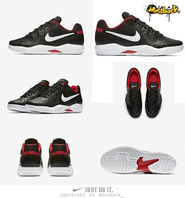 『Mossback』NIKE AIR ZOOM RESISTANCE 網球鞋 黑白紅(男)NO:918194-001 2