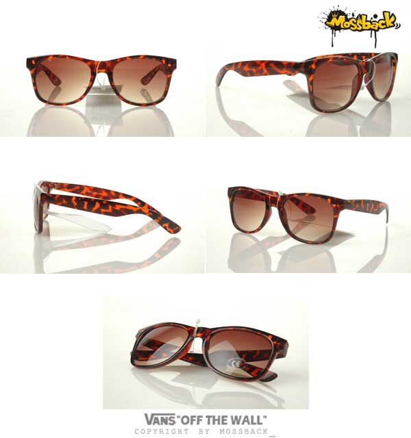 『Mossback』VANS復古太陽眼鏡 超夯豹紋鏡架 潮流穿搭精品 棕色NO:372701BN