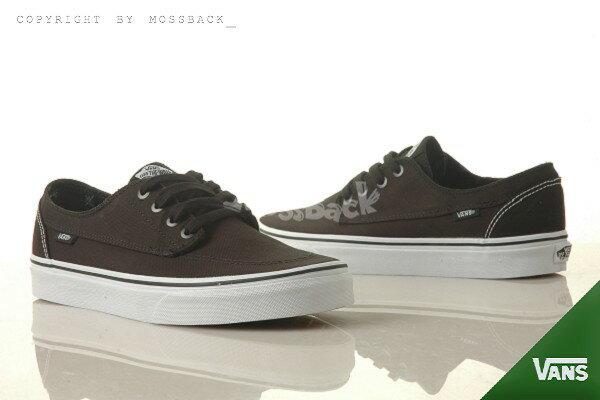 『Mossback』VANS BRIGATA 復古 帆布 滑板鞋 黑色(男)NO:51012905