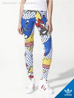 『Mossback』ADIDAS SUPER LOGO GRAPHIC LEGGINGS 運動 內搭 貼腿褲 塗鴉(女)NO:A96216