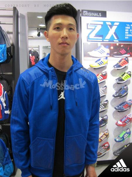 『Mossback』ADIDAS CLY HOODY WARM 連帽 運動 外套 藍色(男)NO:M31194