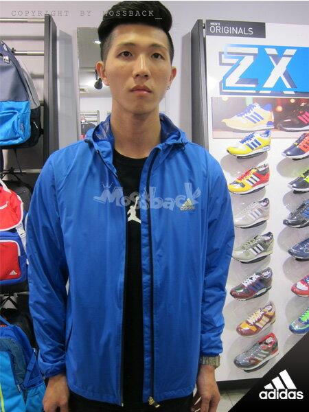 『Mossback』ADIDAS NR IMG WB 連帽 運動 外套 藍色(男)NO:M68459