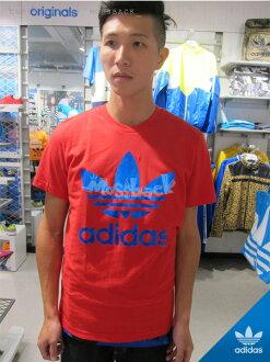 『Mossback』ADIDAS ORI FOIL TEE 寶藍LOGO 短袖 T恤 紅色(男)NO:M69234