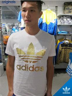 『Mossback』ADIDAS ORI FOIL TEE 金LOGO 短袖 T恤 白色(男)NO:M69235