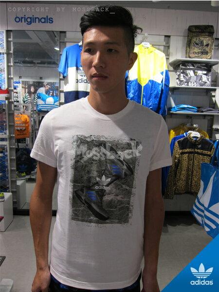 『Mossback』ADIDAS SHOE TEE 短袖 T恤 印花 白色(男)NO:M69266