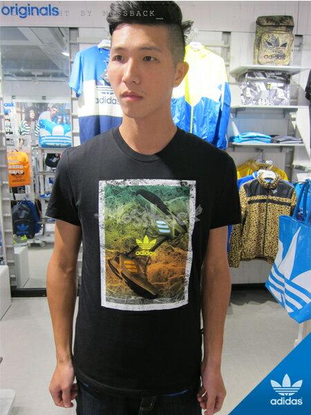 『Mossback』ADIDAS SHOE TEE 短袖 T恤 印花 黑色(男)NO:M69267