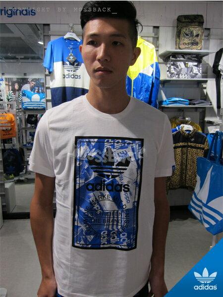 『Mossback』ADIDAS SHOEBOX 短袖 T恤 印花 白色(男)NO:M69334