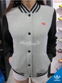 『Mossback』ADIDAS BULLS VARSITY JACKET 公牛隊 棒球外套 灰黑紅(女)NO:M69950