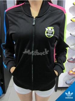 『Mossback』ADIDAS RITA ORA 色塊 拼接 薄紗 夾克 外套 多彩(女)NO:S11805