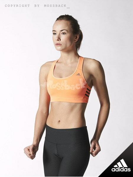 『Mossback』ADIDAS INFINITE SERIES RB BRA 無背扣 運動 內衣 橘色(女)NO:S16330