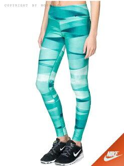 『Mossback』NIKE LEGEND 2.0 RBN WRAP 內搭 長褲 緊身褲 綠藍(女)NO:651333-307