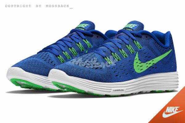 『Mossback』NIKE LUNARTEMPO LUNAR RACER 編織 慢跑鞋 藍綠(男)NO:705461-400