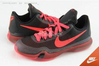 『Mossback』NIKE Kobe X 10 KB GS 果凍底 籃球鞋 黑紅(大童)NO:726067-060