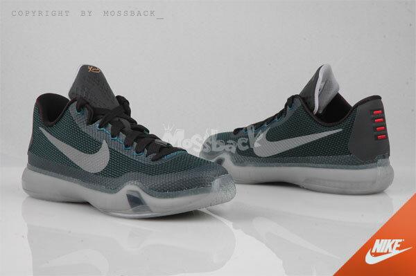 『Mossback』NIKE KOBE X (GS) 果凍底 籃球鞋 白黑墨綠(大童)NO:726067-308