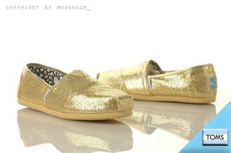 『Mossback』TOMS CLASSICS GLITTER 懶人鞋 金蔥 亮粉 平底 金色(女)NO:001013B07GOLD