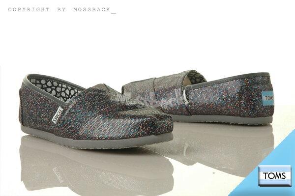 『Mossback』TOMS CLASSICS GLITTER 懶人鞋 金蔥 亮粉 平底 黑色(女)NO:001013B12MULTI