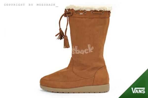 『Mossback』VANS TIMOTHY SLIM I/H2 雪靴 靴子 中筒靴 毛絨 日韓 保暖 咖啡(女)NO:V8689W-WT