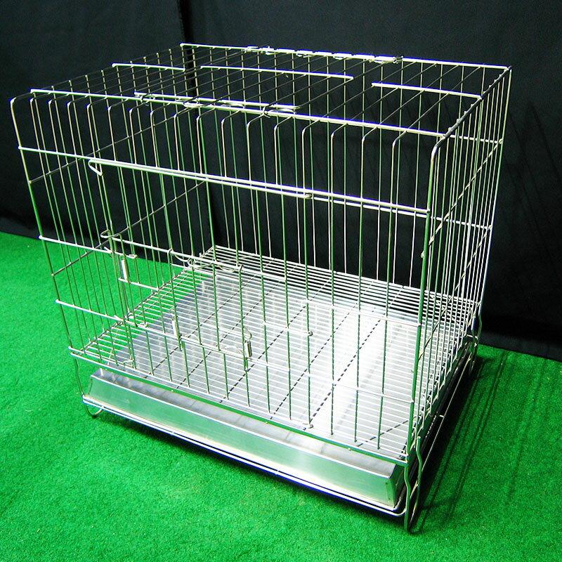 狗籠 狗屋  寵物屋 寵物籠 圍欄  隔板 2尺固定式 可抽取底網 2門 全新 不鏽鋼固定式2尺白鐵線籠 空間特工