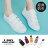 【KWF7587-1】帆布鞋韓版百搭經典 休閒素面棉質帆布 小白鞋 魔鬼氈魔術貼穿拖 0
