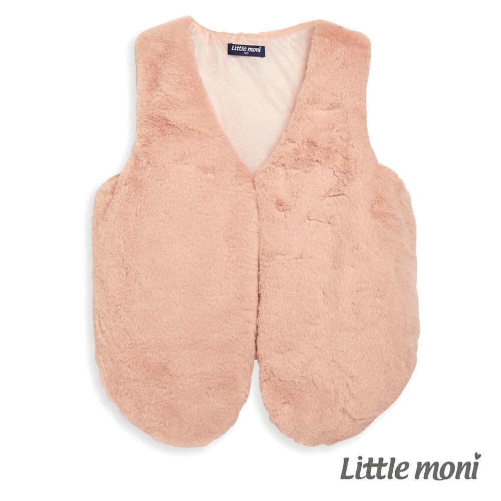 Little moni 毛毛造型背心-粉紅 0
