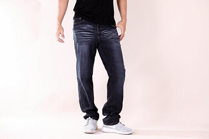 【CS衣舖 】台灣製造 刺繡 精品質感 超彈力 透氣 牛仔長褲 6561 2