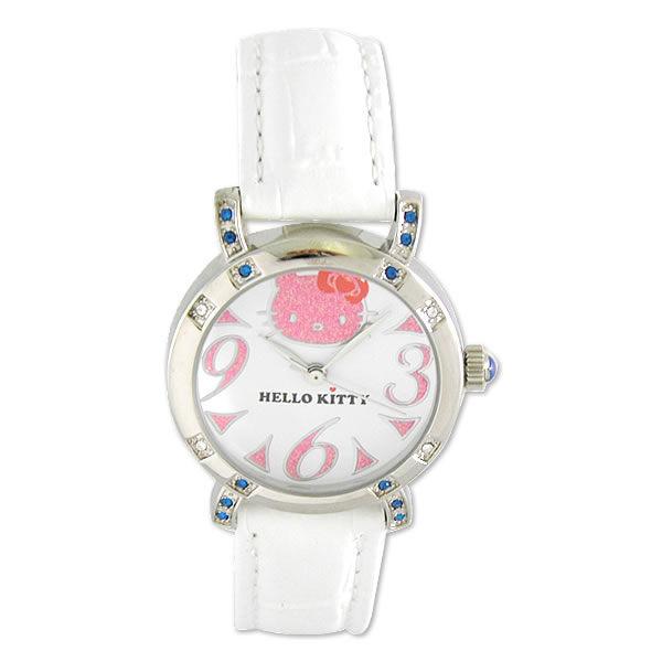 HelloKitty進口精品時尚手錶-優雅閑靜大字手錶(粉紅)-HKFR537-02