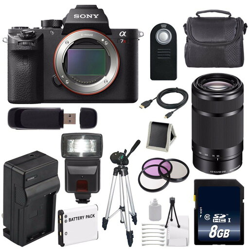 Sony Alpha a7R II Mirrorless Digital Camera (International Model no Warranty) + Sony E 55-210mm f/4.5-6.3 OSS E-Mount Lens (Black) + 49mm 3 Piece Filter Kit 6AVE Bundle 120 ce927c14d3d14d70543a94ea18f4d544