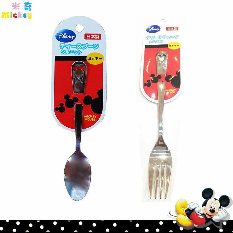 迪士尼 Disney 米奇Mickey 不鏽鋼 小湯匙 大叉子 不鏽鋼餐具 日本進口正版