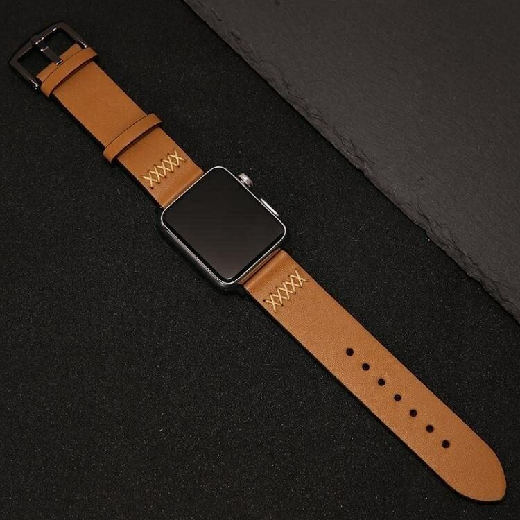 免運 錶帶索柯 適用于Apple Watch 2/3蘋果手錶錶帶真皮商務 iWatch 42mm
