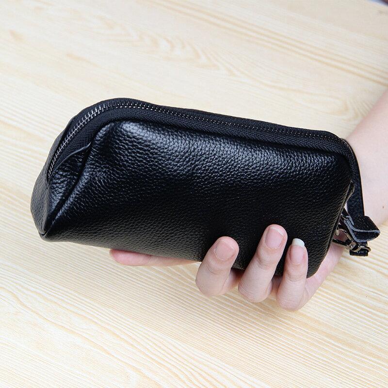 手拿包真皮錢包-經典簡約純色牛皮女包包5色73wz42【獨家進口】【米蘭精品】 2