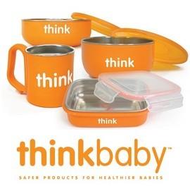 =整點特賣=-兒童餐具-Baby Joy World美國Thinkbaby BPA Free 無毒安全不銹鋼嬰幼兒童餐具組