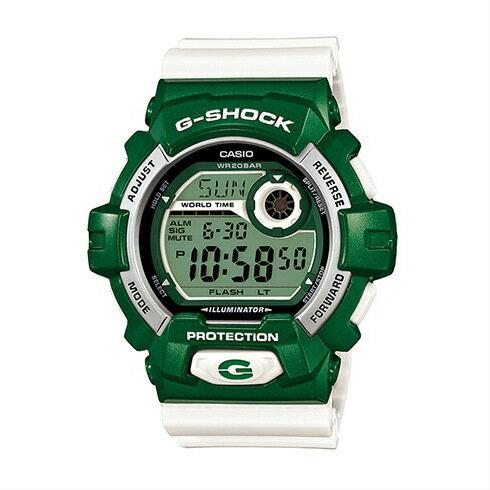 CASIO G-SHOCK G-8900CS-3時尚綠白腕錶/黑面55*52mm