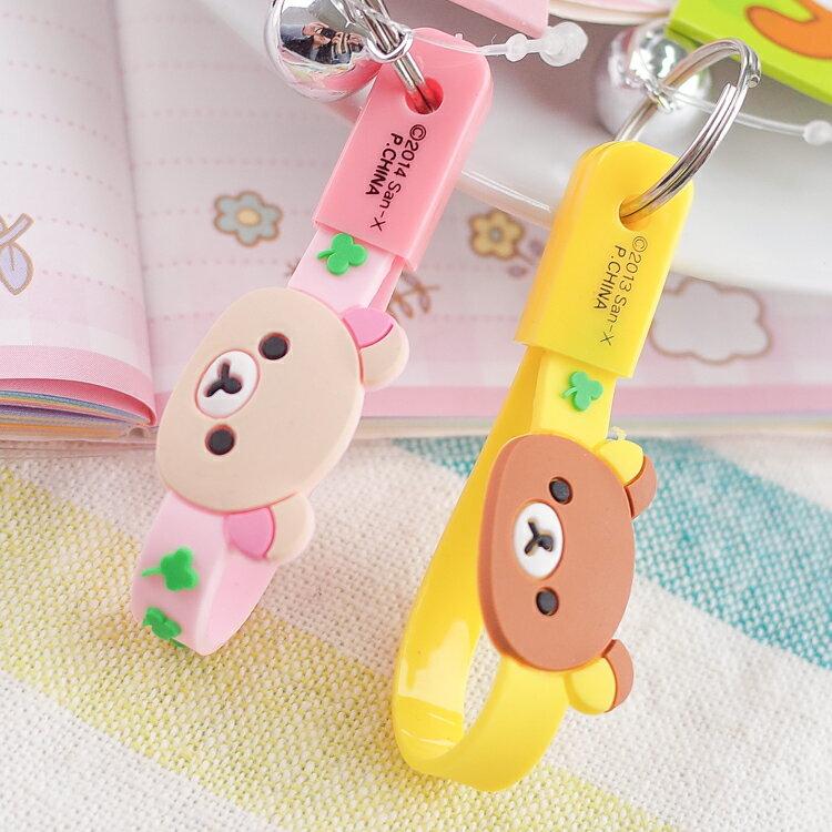 PGS7 日本卡通系列商品 - 日貨 拉拉熊 懶懶熊 Rilakkuma 鈴鐺 頭型 吊飾 鑰匙圈【SKJ80013】
