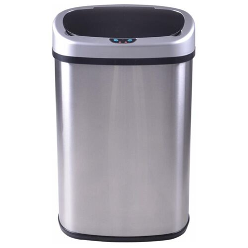 13-Gallon Touch-free Sensor Automatic Stainless Steel Trash Can - Stainless Steel 2