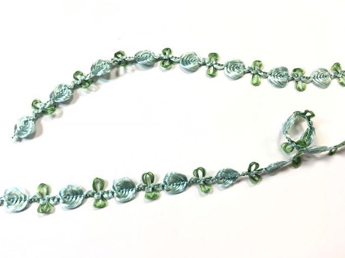 【Crystal Rose緞帶專賣店】10mm 花飾織帶 (9色) 1