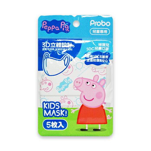 博寶兒3D立體兒童口罩-佩佩豬5枚入*24包盒★衛立兒生活館★