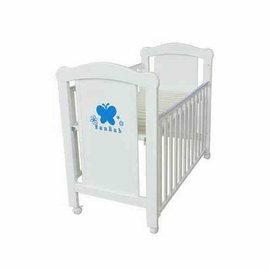【來電另有優惠】夢貝比嬰兒床-蝴蝶嬰兒中床(純白色)5280元