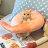 日雜風格 蝦子頸枕抱枕 花色獨特 觸感扎實 0