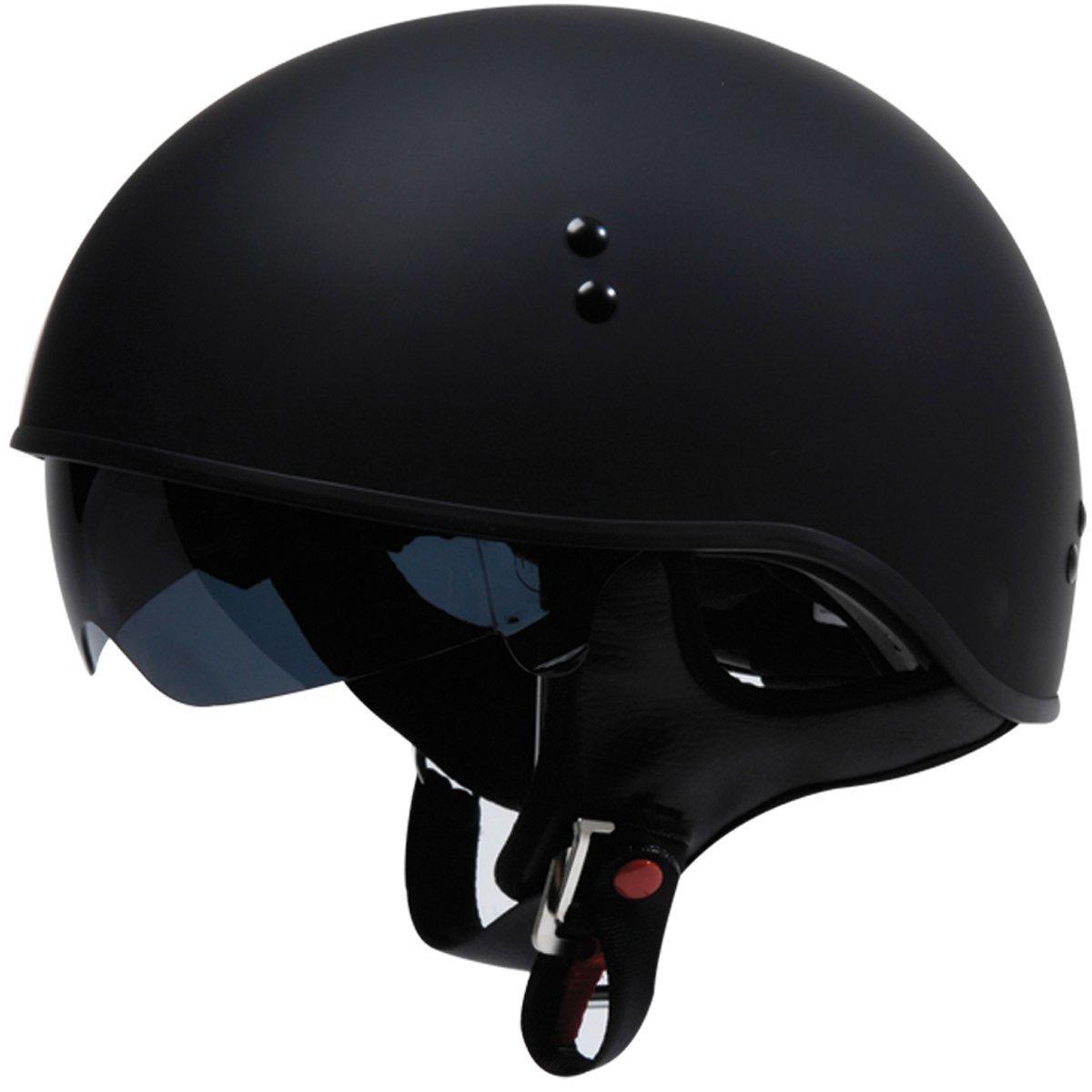 19bebcc8 TORC T55 Spec-Op Motorcycle Half Helmet with Drop-Down Sun Visor (Solid