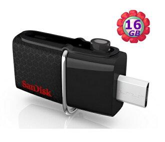 SanDisk 16GB 16G OTG【SDDD2-016G】Ultra Dual micro USB 3.0 原廠包裝 雙傳輸 隨身碟