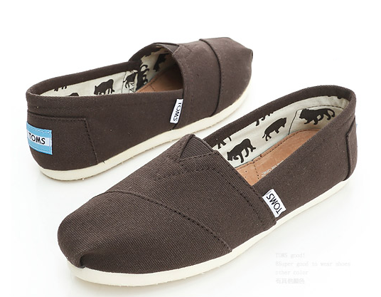 【TOMS】可可色素面基本款休閒鞋  Chocolate Canvas Women's Classics 6