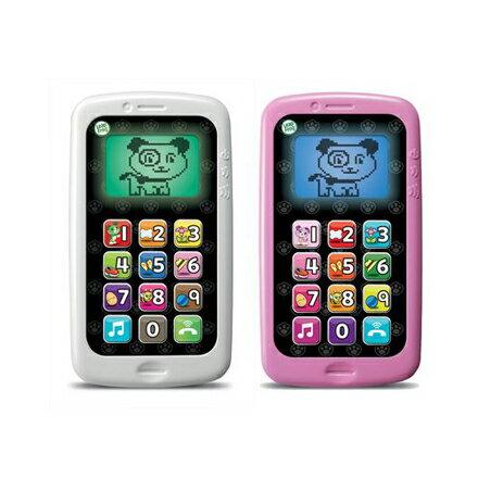 *babygo*LeapFrog跳跳蛙 - 數數聰明小手機(白/粉)