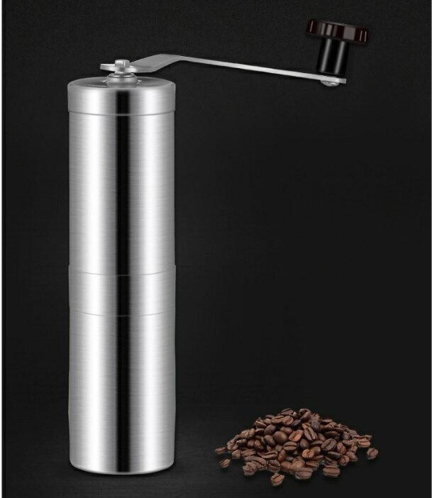 【嚴選SHOP】便攜式 304不鏽鋼磨豆機 陶瓷芯手搖磨豆機便攜不鏽鋼咖啡機磨粉機磨咖啡豆機手動磨豆機手搖式【K134】