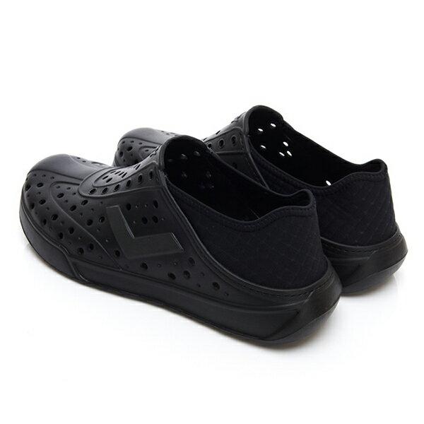 《2019新款》Shoestw【92U1SA03BK】PONY Enjoy 洞洞鞋 水鞋 海灘鞋 可踩跟 懶人拖 菱格紋 全黑 男女尺寸都有 3